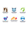 collection pet logo vector image vector image