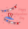 collection style independence day card vector image vector image