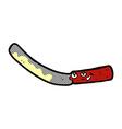 Comic cartoon butter knife