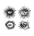 comic speech bubble stars explosion vector image vector image