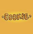 cookie biscuit typeface custom hand drawn vector image