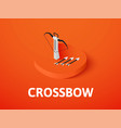 crossbow isometric icon isolated on color vector image vector image