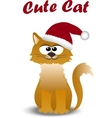 cute cat in hat vector image vector image