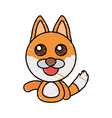 draw fox animal comic vector image