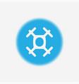 drone icon sign symbol vector image vector image