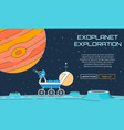 exoplanet exploration background vector image vector image