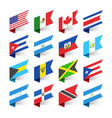 flags of the world north america vector image vector image