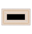 Frame with ethnic handmade ornament for your vector image vector image