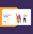 fun jazz performance concept landing page vector image vector image