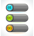 Glossy gray horizontal options banners or buttons vector image