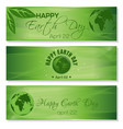 green banners set for earth day april 22 vector image vector image