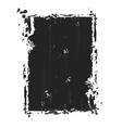 grunge frame - ckracked black vector image vector image