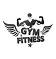gym workout and fitness inspiring motivation quote vector image vector image