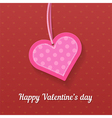 Happy Valentines day greating card vector image vector image