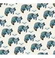 indian seamless pattern of raccoons vector image