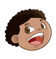laughing boy face kid happiness expression image vector image
