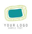 Logo oval vector image