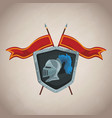 medieval army emblem vector image