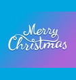 merry christmas calligraphic logo template for vector image vector image