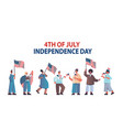 mix race people holding united states flags vector image vector image