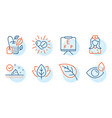 organic tested vision board and leaf icons set vector image vector image