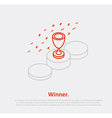 podium cup thin line isometric vector image vector image