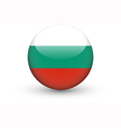 Round icon with national flag of Bulgaria vector image vector image
