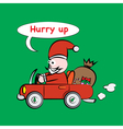 Santa Claus Car vector image vector image