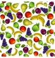 Seamless mixed fruits pattern background vector image vector image