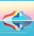 seascape on background island vector image