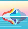 seascape on background island vector image