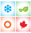 season icon set vector image vector image