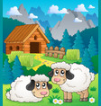 sheep theme image 2 vector image vector image