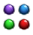 Shiny blank buttons vector image