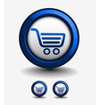 shopping web icons vector image