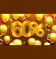 sixty percent or 60 marketing sale offer vector image vector image