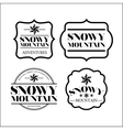snowy mountain frame set isolated icon design vector image vector image