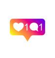 social media instagram modern like 1 comment 1 vector image vector image