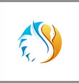 swan bird colorful vector image vector image