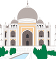 Taj Mahal Agra India vector image