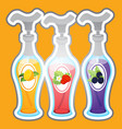three bottles with dispensers with different vector image vector image