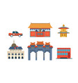 travel to china chinese traditional architectural vector image vector image