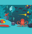 underwater world sea vector image