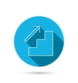 Upstairs icon Direction arrow sign vector image vector image