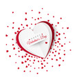 valentine card with confetti on background vector image