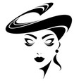 women icon on white background vector image vector image