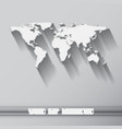 world map with long shadow vector image vector image
