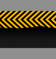 yellow and black arrow stripes background design vector image vector image