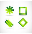 Green logo elements icon set vector image