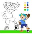 soccer player cartoon vector image